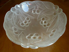 """Mikasa Bountiful Frosted 9 1/4"""" Serving Bowl Raised Cherry Design"""