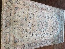 Nain Pure silk Hand made warp and weft silk rug 187x115cm/6.2x3.9