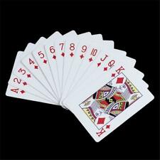 PVC Waterproof Playing Cards Wearproof Plastic Poker Bar Board Game White Card k