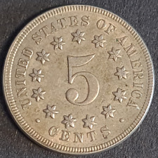 USA, Shield Nickel, 1869, Extremely Fine, Remaining Lustre, Incredible Detail