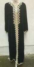 Blue Maxi 12 Dress 40 Long Kaftan Lace Zip Vintage Ceremony Robe Costume Theatre
