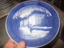 Vintage 1975 Royal Copenhagen Denmark The Queen'S Christmas Residence Plate