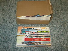 1 CASE OF 25 NEW 1968/69 MARKLIN CATALOGS IN ENGLISH  HO AND SLOT CARS