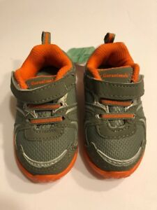 Infant Boys Athletic Shoes Size 3 Footwear Gray