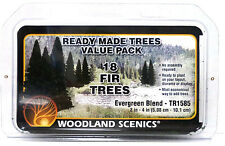 "Woodland Scenics TR1585 Ready Made Evergreen Fir Trees 2""-4"" Value Pack (18) pcs"