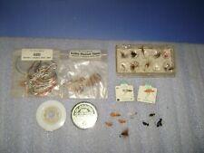 Vintage Fishing Flies & Materials Lot Gladding Floss Golden Pheasant Tippets