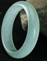 Hot Natural Light Green Jadeite Jade Bangle Bracelet Handmade 56mm-62mm