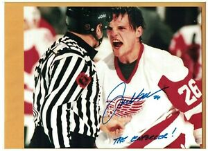 """Joey Kocur Detroit Red Wings 8x10 AUTOGRAPHED PHOTO SIGNED """"THE ENFORCER"""""""