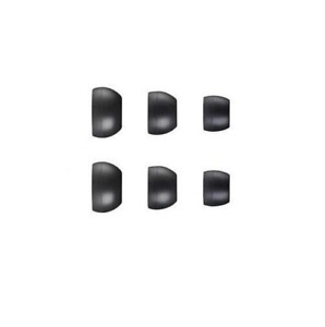 6 x REPLACEMENT SPARE IN EAR EARPHONE HEADPHONE TIPS EARBUDS GELS RUBBER MIXED