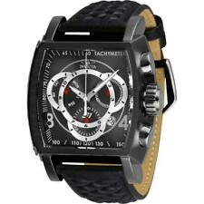 Invicta S1 Rally 27924 Men's Gunmetal Genuine Leather Chronograph Watch