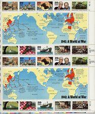 1941: A World at War  -  Mint Sheet  - Scott # 2559 - Pane of 20 - 29¢