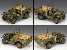 KING & COUNTRY FIELDS OF BATTLE FOB091 BRITISH MORRIS CS8 BEF TRUCK SET MB