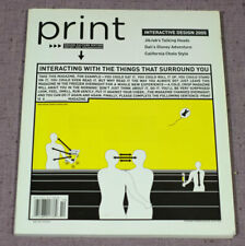 Print Magazine Graphic Design Interactive September/October 2005