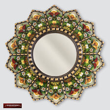 "Peruvian Luxury Round Mirror 23.6"", Wall hanging Round Mirrors, Accent Mirror"