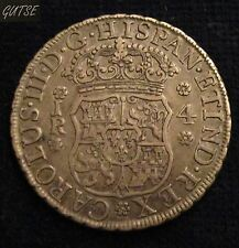 *GUTSE*39-CARLOS III, 4 REALES 1769, POTOSÍ JR, XC 1170, RARA, EBC