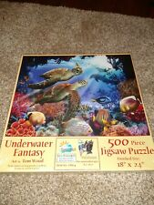 "PUZZLE SUNSOUT ""UNDERWATER FANTASY""  500 PIECE 18"" X 24"" FINISHED SIZE RARE"