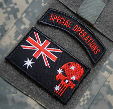Operation Slipper Australian Defence Force ADF Afghan SSI: Aussie Skull + SP OPS