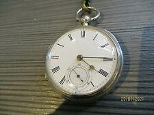 More details for victorian silver pocket watch by beringer bros belfast