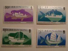 Hong Kong.Ships.1986 #474-477,Fishing vessels.MNH