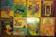 Lot 8 Herge The Adventures of TINTIN  softcover: The black island , Cigars, LOOK
