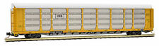 Micro-Trains MTL N-Scale 89ft Tri-Level Auto-Rack CSX/Boxcar Logo/Yellow #975219