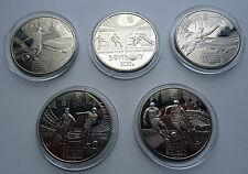 2011 Juego de Ucrania 5 monedas de 5 UAH euro 2012 Fútbol Balonpié Sport UEFA Cup Sunc