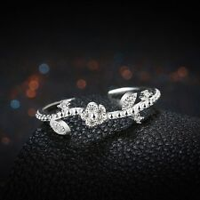 Lovely Real 925 Sterling Silver Ring Women Wedding Engagement Jewelry Gifts hot.