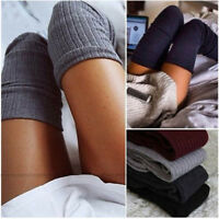 Women Long Stocking Warm Knitted Over Knee Thigh-High Blend Cotton Socks  Winter