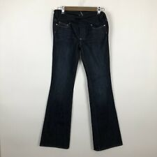 Maternity 27 Paige laurel Canyon flare denim jeans 27 Dark Wash belly panel