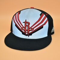 Houston Rockets adidas NBA Reflective Logo Panel Fitted Cap Hat - Size: 7 1/8
