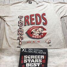 90s VTG nos CINCINNATI REDS Mr. Red T Shirt SCREEN STARS BEST 80s MLB XL Logo OG