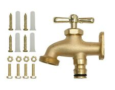 Homekit Brass Hose End Tap - Outside Anywhere Tap for Convenient Water Access