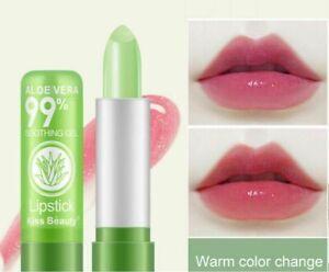 Natural Aloe Vera Color Change Lip Balm Moisturizing Lipstick Lip Care Women Men