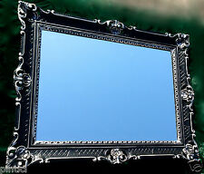 Bilderrahmen Barock Schwarz/Silber 90x70 Spiegelrahmen 50x70 Antik Gemälderahmen