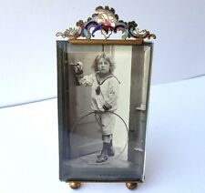 Bilder- Rahmen/ Fotorahmen, Messing, Emaille, Frankreich, um 1880 – 1900 AL402