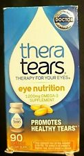 THERA TEARS..EYE THERAPY..EYE NUTRITION..PROMOTES HEALTHY TEARS..90 GELS..1/2021