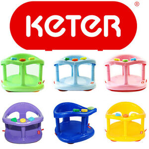 Baby bath seat ring bath tub Blue Green Pink Purple Yellow Made By KETER Plastic