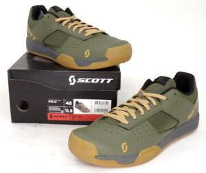 Scott MTB AR Mountain Bike Flat Pedal Shoes Moss Green Men's Size 11.5 US/46 EU