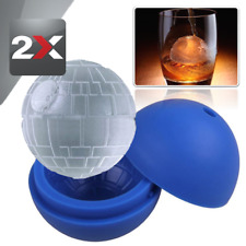 """2x Silicone Ice Cube Tray Death Star Wars Ice Cube Ball Maker Silicone Mold 3"""""""