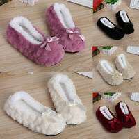 Women's Soft Plush Furry Indoor Home Slippers Warm Non-slip Inner Fur Flat Shoes