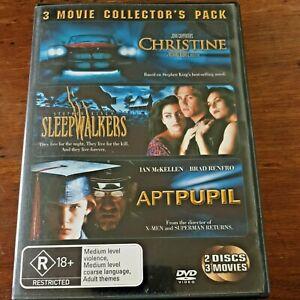 Christine Sleepwalkers Apt Pupil DVD R4 VERY GOOD – FREE POST