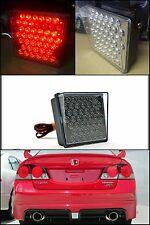 Universal Rear Bumper Lip Brake Blinking Fog Light Work Driving 43 LED Square