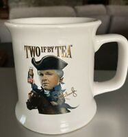Signed Rush Limbaugh Two If By Tea ~ The Liberals are Coming! Tea Mug, Cup USA