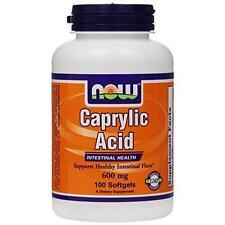 NOW Foods Caprylic Acid 600 mg 100 Gels