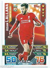 2015 / 2016 EPL Match Attax Base Card (134) Adam LALLANA Liverpool