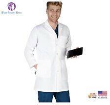 New listing Natural Uniforms Mens Lab Coat Length with I Pad access pocket Doctor Coat Xs