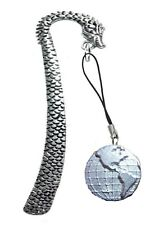Planet Earth Globe ft190 3cm English Pewter On A DRAGON Bookmark