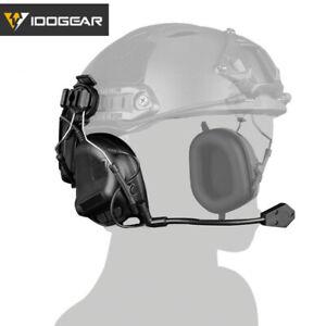 IDOGEAR Electronic Headset Ear Muffs No Battery Version For Helmet Airsoft