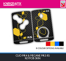 KNR0003 RS MEGANE MK3 - CLIO MK4 KEYFOB SKIN - KEY STICKER - 8 COLOUR CHOICES