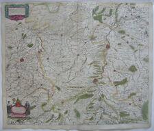 Lüttich Belge Wallonien altkolor Orig Kupferstichkarte Mercator Hondius 1627